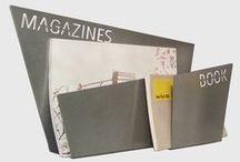 "Magazines Racks / Magazines racks ""Ezio"" and ""MagaBook"" by Microstudio. Steel powder coated. Made in Italy"