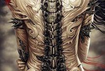 Tattoo and Design / Women , Skull , Geometrique . . .