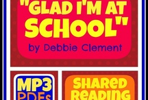 """Glad I'm at School"" (Song) / ""Well all right: ALL RIGHT! Ok: OK!!! I'm glad I'm at school today."" (4 times thru for chorus)  / by Debbie Clement"