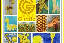"""""""Tall Giraffe"""" picture book / These are the ideas I've found to support & extend the use of my picture book & song entitled, """"Tall Giraffe."""" My book is illustrated with photographs of giraffes taken in Africa and then 'framed' with fabrics from Africa which are quilted digitally. Projects for young children: hand prints, snacks, bulletin boards, children's art, paintings and sculpture. All sorts of giraffe-esque goodies! / by Debbie Clement"""