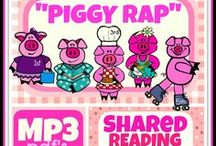 "Piggy Rap (Song) / ""There were five little piggies, piggies that were pink. Listen to my nursery rap and tell me what you think. The first little piggie, that's piggy number one, she liked to shop -- that's how she had her fun. She went down to the market, she went on to the mall. She shopped till she dropped and she really had a ball!!"" (Go piggy, go piggy. Go, go, go piggy.)"