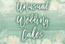 "Unusual Wedding Cake Ideas / There's something very special about an ""unusual"" wedding cake - something different to the normal flowers and white icing."