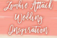 Theme: Zombie Outbreak | Wedding Inspiration / Love the Walking Dead? Channel your inner Daryl Dixon with a zombie themed wedding! Get all your guests to come in zombie costumes so that you and your groom can save the day. Mmm... Brains!