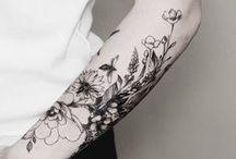 | tattoo | / black work · tatuagens femininas · dot work · pontilhismo · tatuagem botânica · geométrica · tattoo · braços tatuados