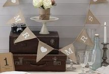 Vintage Wedding  / Create a vintage affair with this rustic and dreamy wedding range including hessian bunting, wooden signs and wedding wands.