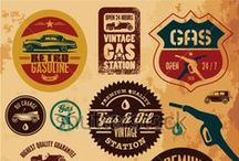 Vintage Labels / A label is a piece of paper, polymer, cloth, metal, or other material affixed to a container or article, on which is printed a legend, information concerning the product, addresses, etc. #vintage / by Shutterstock