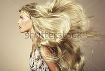 Hair / Hairstyles for men's and women's hair. / by Shutterstock