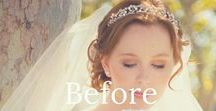 Bridal Hair and Makeup Before and After / A gallery of before and after bridal hairstyles and makeup by Hair Comes the Bride. All hair and makeup shown was done by the talented staff of hair and makeup artists at Hair Comes the Bride.