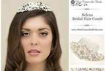 Bridal Hair Accessories / Bridal Hair Accessories by Hair Comes the Bride including bridal hair combs, bridal headbands, bridal hair pins, bridal hair flowers, bridal tiaras and bridal veils.