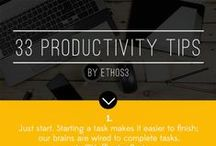 Productivity Tips and Tools / We all want to get more done -- faster, easier and with less effort. It's not only about getting stuff done, it's about getting the right stuff done. These productivity tips will help you make the most of your limited resources while still accomplishing your goals.