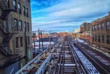 Riding the L / Riding the L in Chicago, from the back of the train.  / by Daniel Schell