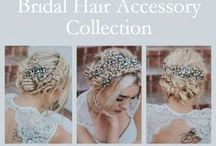 """""""Carmen"""" Bridal Hair Accessory Collection / """"Carmen"""" Bridal Hair Accessory Collection featuring high quality glass rhinestones and freshwater pearls in an intricate romantic and boho design.  Available in a small comb, medium comb, large comb, hair pin and hair vine in silver or gold."""