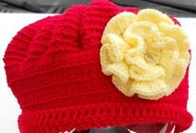 Hats and Headbands / An assortment of hats and headbands I have personally designed & crocheted. It's Style to Inspire you! I love custom orders. Contact me.