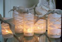 Homemade Candle And Tealight Decor