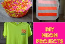 Crafts - Neon / Totally awesome neon craft and diy ideas! #neon #neoncrafts #neonprojects #neondiy / by Malia Martine Karlinsky