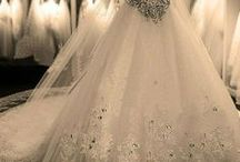 wedding and bridesmaids' gowns and accessories / by Katherine Cleveland