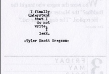 Then Write You Must... / by Kat