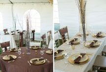 Elegant Wedding Tablescapes / Elegant wedding tables that keep it classic and stylish. Remember: table linens are the foundation of any elegant tablescape! http://www.linentablecloth.com/tablecloths.html