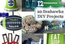 Crafts - Seahawks / Football themed Food, Party Decor and DIY #seahawks #seahawkscrafts #seahawksdecor #football #footballcrafts #footballdecor / by Malia Martine Karlinsky