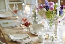 Laying the Table / Inspiration for your dining table, whether inside or out.
