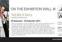 Tell Me A Story | an exhibition by Mila Posthumus at StateoftheART / There is a sense, in this collection of paintings, of having stumbled upon a private moment. The moments captured are small and unposed, the subjects caught up in their own thoughts,  distracted.