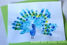 Handprint Art for Kids / A great part of my life has been spent with little ones - preschool teacher, girl scouts, homeschooling, Sunday School teacher, etc.. and these crafts have always been my favorite.  They make wonderful gifts and keepsakes for families. / by Kathy Kenna
