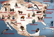 """The First Americans   / Native Americans almost certainly immigrated to the Americas from Asia across an Ice Age """"land bridge"""" where the Bering Strait is today.The treatment they have received by their land being taken away and their people killed or put on Reservations is an outrage! / by Sylvia Moore"""