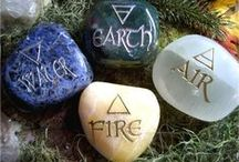 *The Elements* /  Western ~ Earth, Air, Fire, Water & Spirit. //     Eastern ~ Earth, Fire, Metal, Water & Wood