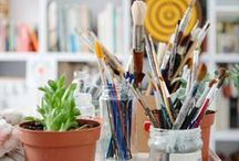 Workspace Inspiration / Inspiration for your home office, desk area or studio