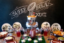 Football Party Inspiration / Ideas for a Super Bowl or Football celebration.