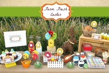 Farm Fresh Easter Party Inspiration / Ideas for a rustic, farm fresh Easter celebration.