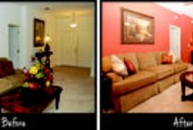 Before and After - Redecorating on a Budget / We recently redecorated our Winston II model home in Leesburg, Florida.  Here are some before and after pics and tips on how we redecorated an entire model home on a tight budget.  Find more home decor tips on our blog at http://www.highlandhomes.org/news/category/design-and-decorating/.