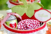 Strawberry Party Inspiration / Strawberry-themed party ideas, cakes, cupcakes and treats!