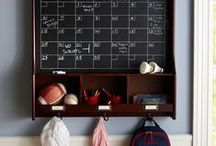 Back to School / A designated area in your home for studying and backpacks can help keep kids on track for success. Here are some ideas for homework and organization spaces in your home - Read more tips at http://www.highlandhomes.org/news/2015/09/keeping-your-household-organized-for-back-to-school/.
