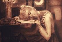 She likes to read / Подборка репродукций картин, фотографий, рисунков, изображающий читающих женщин