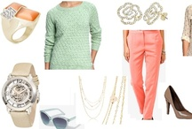 Shoshanah's Picks: Workin' It With Coral / Each week, Shoshanah (who has fabulous taste IMHO) will be putting together a complete outfit, accessorized with Shadora jewelry! No need to hit the malls – she will do the shopping for you! This week's look is Workin' It With Green – what do you think?