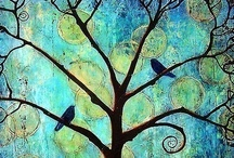 A Different Blue / Collage of A Different Blue by Amy Harmon
