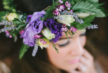 Flower Crown Inspiration / Flower garlands I love or love the flowers used.