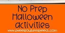 Speech Therapy Halloween Theme / Resources and ideas for speech therapy with a fun Halloween theme. Articulation, Language, Reading, Writing, Vocabulary, and Crafts - a little bit of anything! #halloween #speechandlanguage