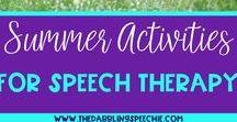 Speech Therapy: Summer Theme / Activities for summer-theme speech and language. #speechtherapy #oceantheme #sharkweek