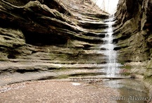 Starved Rock / Starved Rock State Park, boasts 13 miles of well-marked trails, bluffs and 18 canyons. The parks Visitors Center filled with interactive exhibits and a video of the park's history. / by Heritage Corridor CVB
