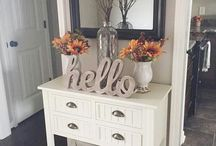 Home Decor; Downstairs / Home decor for kitchen, laundry, sitting and dining rooms...
