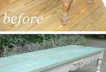 Before and After / Before and after of furniture painting!