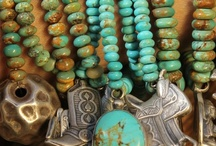 Turquoise Boho Jewelry / As a jewelry designer, Turquoise has always been my favorite gemstone to design with. I particularly love to wear green African turquoise with lace. Enjoy this collection!