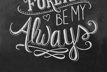 Chalkboard Ideas / by Karina Searle