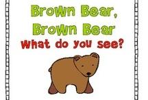 Brown Bear,Baby Bear,Polar Bear,Panda Bear, etc. / Ideas & printables for books by Bill Martin, JR.