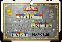 Bible Bulletin Boards / All Bible bulletin boards and any ideas for future Bible bulletin boards. / by Debbie Jackson