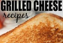 GRILLED CHEESE GOODNESS / Awesome grilled cheese ideas and anything that is loaded with ooey gooey yummy cheese!!!