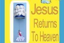 Bible: Jesus Returns to Heaven / Includes Breakfast on the beach / by Debbie Jackson