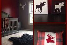 Baby Boy Nursery :: Moose/Log Cabin Theme